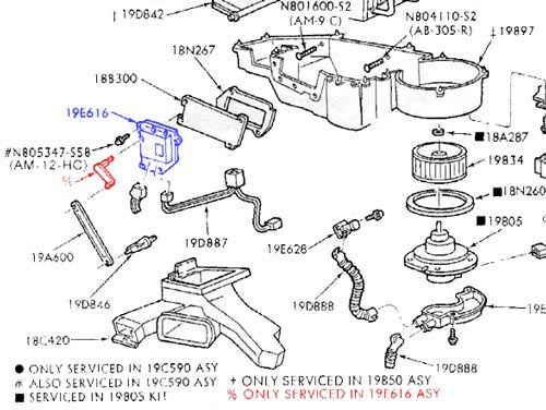 ford taurus blend door diagram